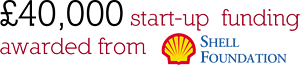 £40,000 start-up funding awarded from Shell Foundation